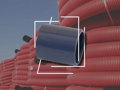 Manguito simple para tubo corrugado  Fibra Óptica y accesorios